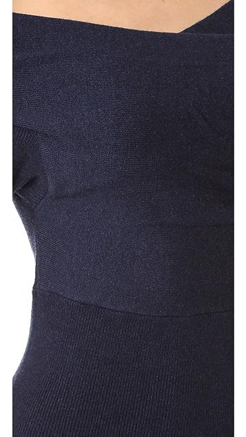 Michelle Mason Cross Wrap Mini Dress