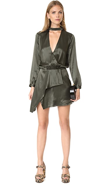 Michelle Mason Long Sleeve Choker Mini Dress