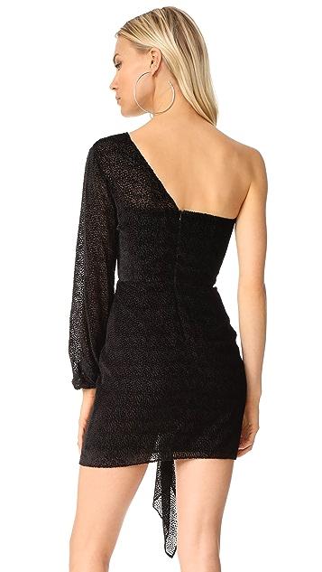 Michelle Mason Draped Open Sleeve Mini Dress