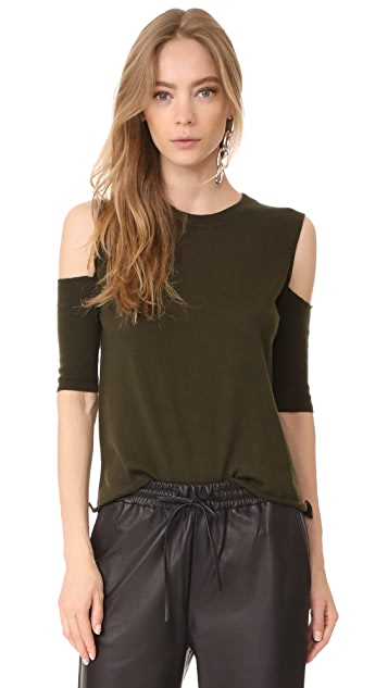 Michelle Mason Open Shoulder Sweater