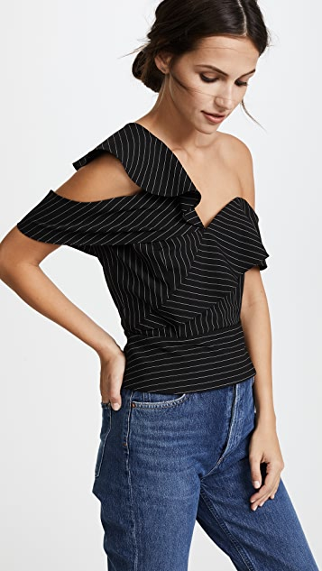 Michelle Mason Ruffle Top