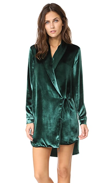 Michelle Mason Velvet Wrap Jacket Dress