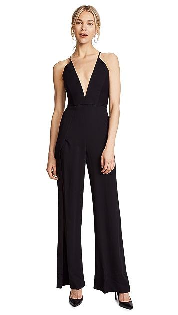 Michelle Mason Palazzo Jumpsuit with Slits