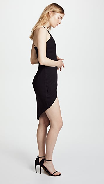 Michelle Mason Asymmetrical Plunge Dress