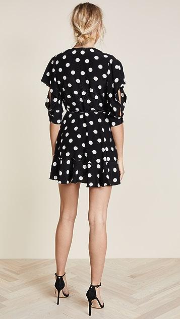 Michelle Mason Flutter Sleeve Wrap Mini Dress