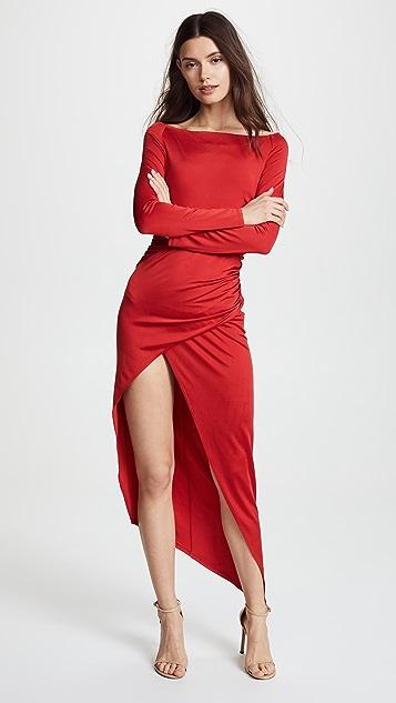 Michelle Mason Boat Neck Wrap Dress