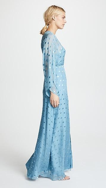 Michelle Mason Kimono Wrap Gown