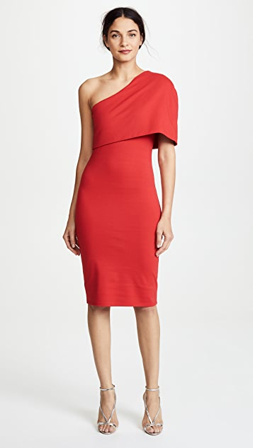 Michelle Mason Asymmetrical Cocoon Dress - Red