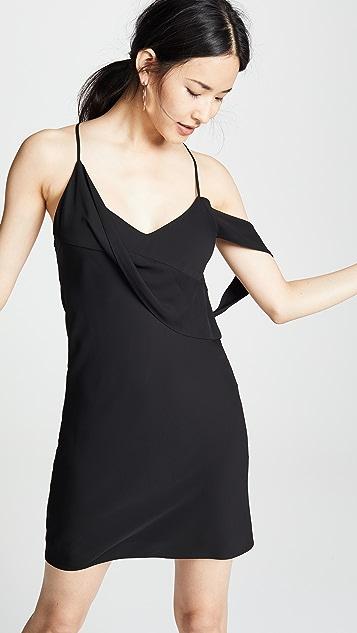 Michelle Mason Mini Dress with Draped Cowl Neckline