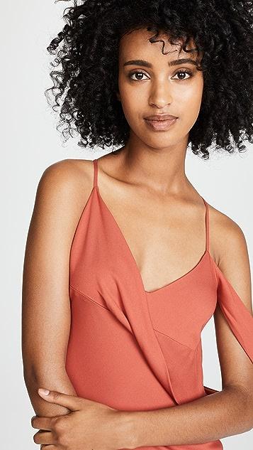 Michelle Mason Drape Midi Dress
