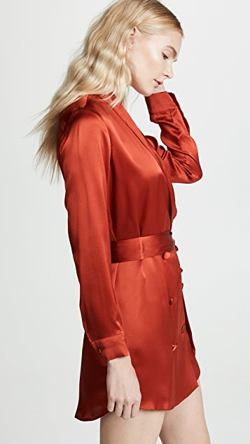 Michelle Mason Belted Dress Jacket
