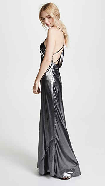 Michelle Mason Lamé Bias Gown