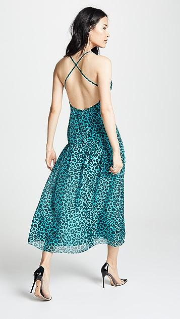 Michelle Mason Strappy Midi Dress