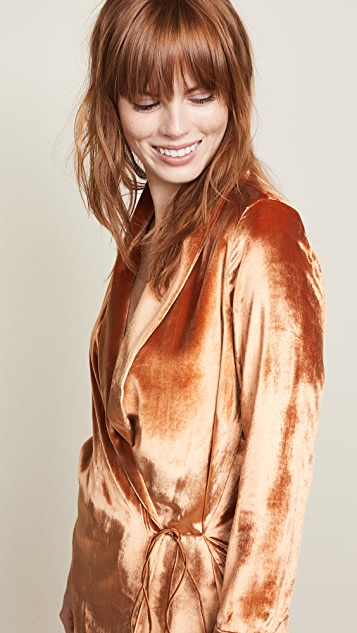 Michelle Mason Wrap Dress Jacket