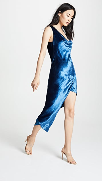 Michelle Mason Cowl Maxi Dress