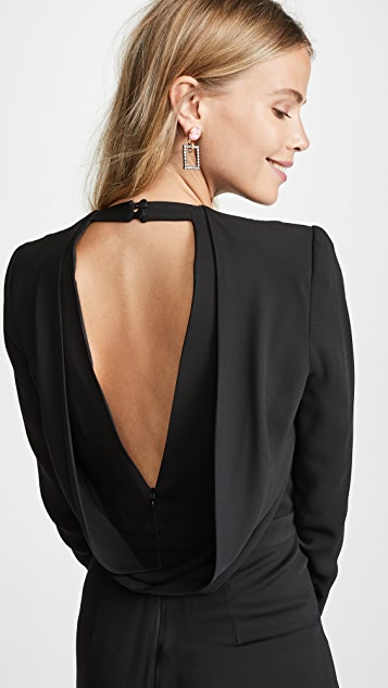 Michelle Mason Jumpsuit with Draped Back