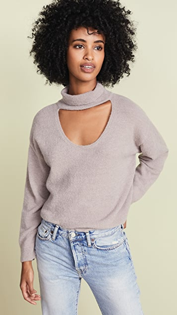 Michelle Mason Turtleneck Plunge Sweater