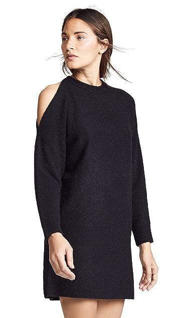 Michelle Mason Cold Shoulder Sweater Dress