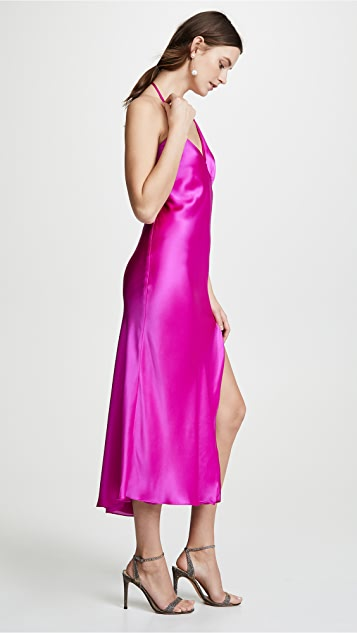 Michelle Mason Gathered Slip Dress
