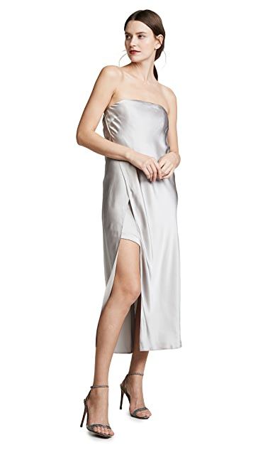 Michelle Mason Восточный халат без бретелек