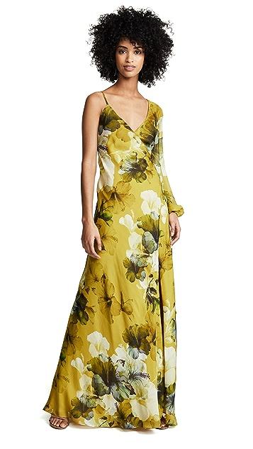 Michelle Mason Asymmetrical Wrap Gown