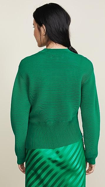 Michelle Mason Long Sleeve Twist Sweater