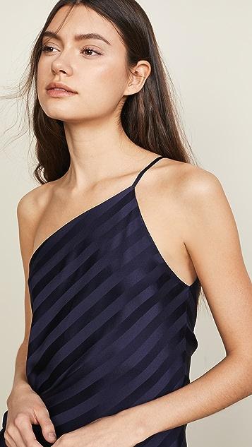 Michelle Mason One Shoulder Tie Top