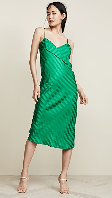 Michelle Mason Slip Dress with Lapel