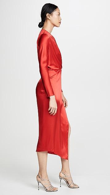 Michelle Mason Миди-платье в стиле оригами