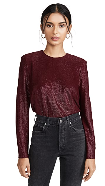 Michelle Mason Long Sleeve Tee with Crystals