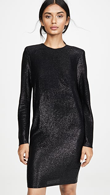 Michelle Mason Long Sleeve Mini Dress with Crystals