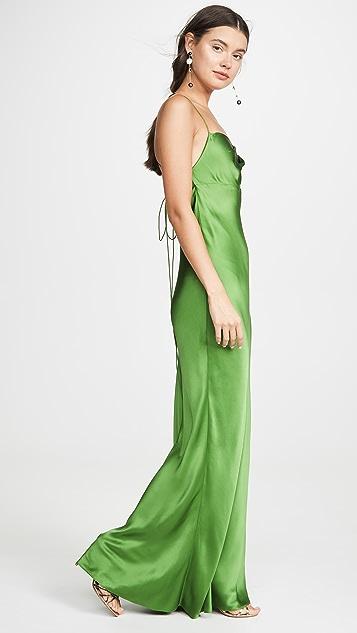 Michelle Mason Cowl Bias Gown