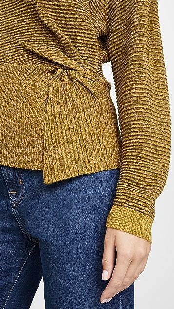 Michelle Mason 长袖扭褶毛衣