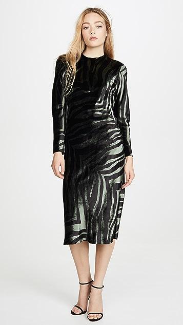 Michelle Mason Платье с длинными рукавами и открытой спиной