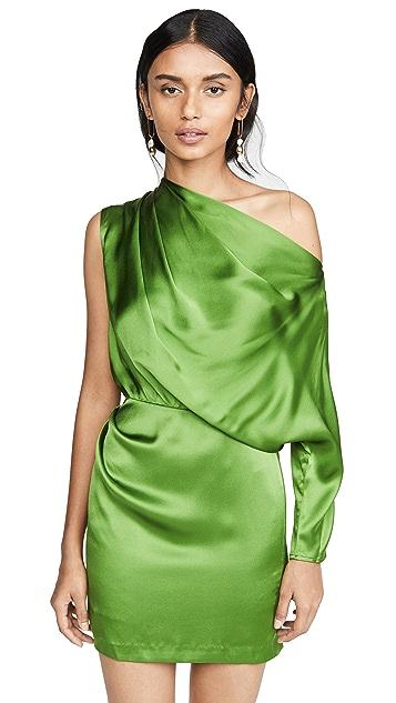Michelle Mason Мини-платье с драпировкой и одним рукавом