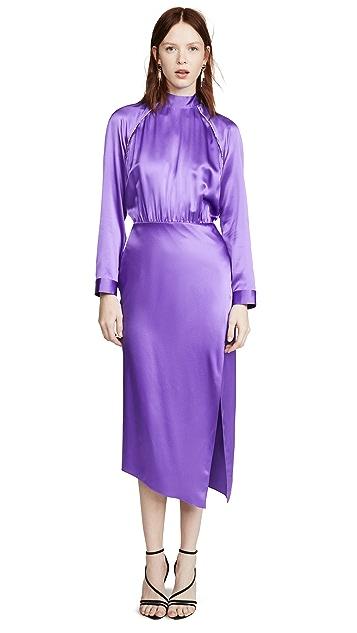 Michelle Mason Платье с рукавами реглан и отделкой кристаллами