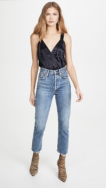 Michelle Mason 交叠吊带紧身连衣裤
