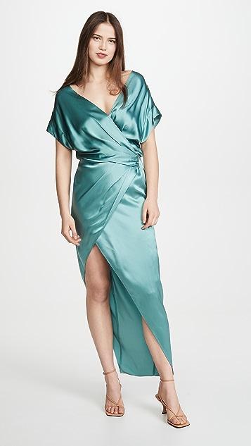 Michelle Mason 宽领口裹身式连衣裙