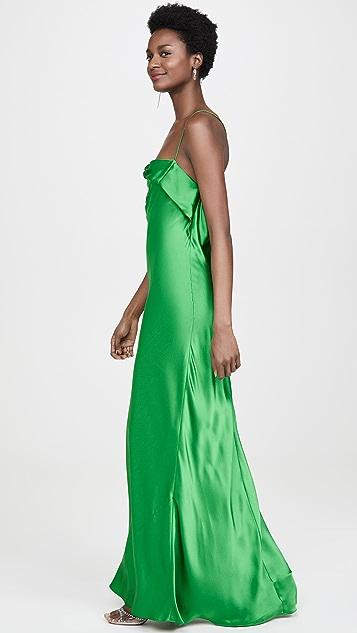 Michelle Mason 荷叶边垂褶斜裁礼服