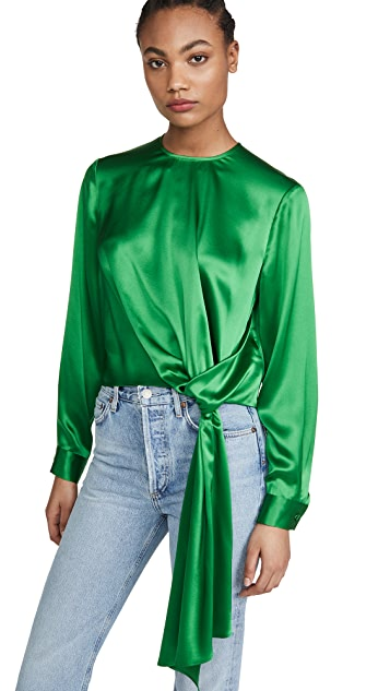 Michelle Mason Long Sleeve Top with Tie