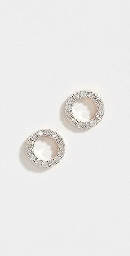 Mateo - 14k Mini Diamond Circle Studs