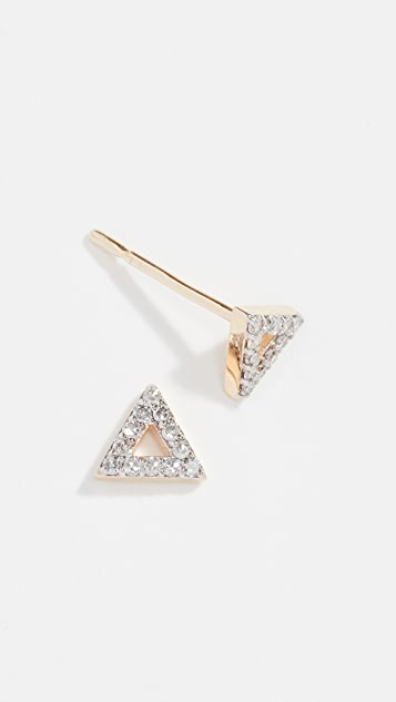 Mateo 14k Mini Diamond Triangle Studs