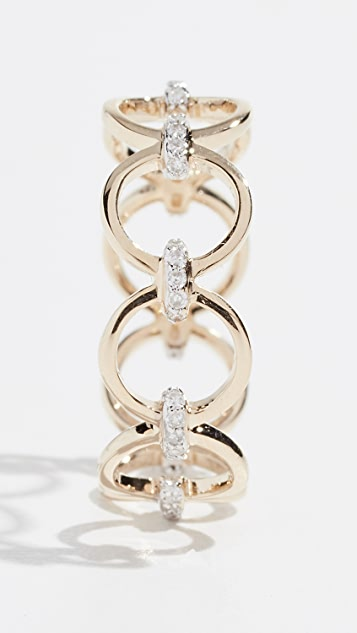 Mateo 14k Connecting Circle Ring with Diamonds