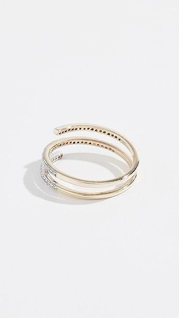 Mateo 14k Diamond Spiral Ring