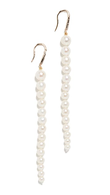 Mateo 14k Freshwater Cultured Graduated Pearl Dangler Earrings