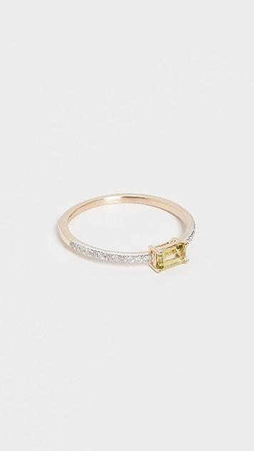 Mateo 14k Emerald Cut Peridot Ring
