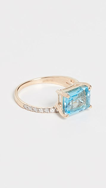Mateo 14k Blue Topaz Point of Focus Ring