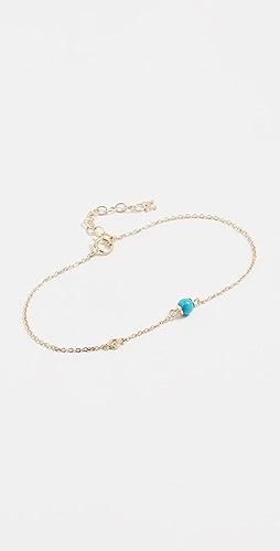 Mateo - 14k Turquoise and Diamond Chain Bracelet