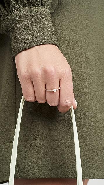 Mateo 14k 珍珠圆点戒指