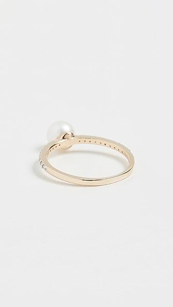 Mateo 14K 金和钻石珍珠球形戒指